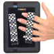 4 Loop Tablet or Reader Grips (x2) - Black and White Checkers
