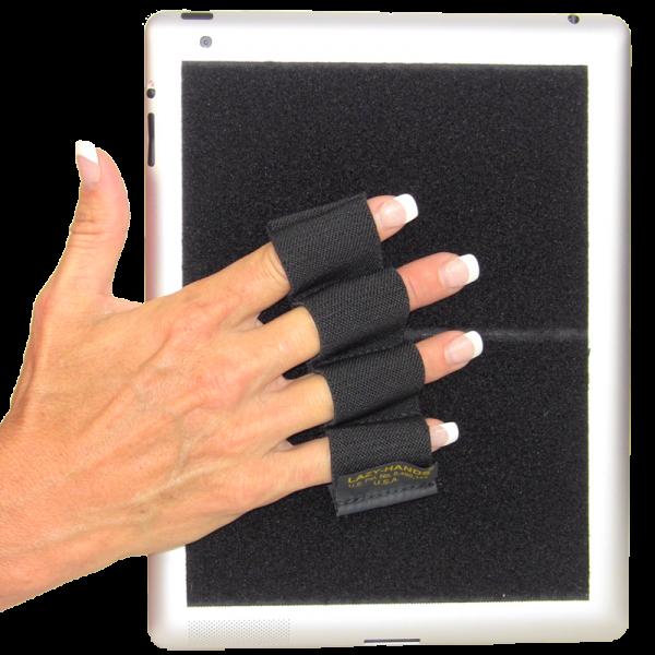 Heavy Duty 4-Loop Grip for iPad or Large Tablet - Black