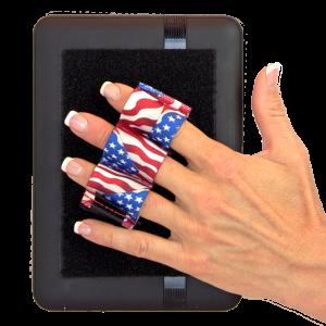 Heavy Duty 3-Loop Tablet Grip - Flags
