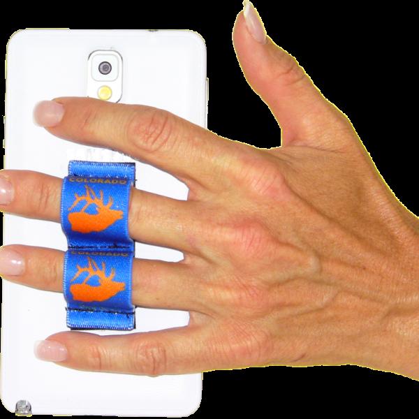 2-Loop Phone Grip - Estes Park Elk Orange on Blue