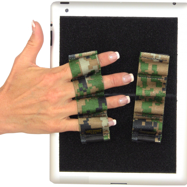 Heavy Duty 4-Loop Grips for iPad or Large Tablet (x2) -Camouflage