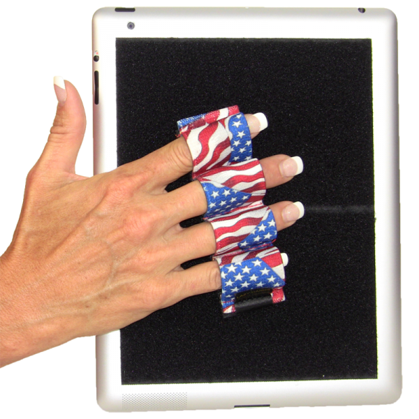 Heavy Duty 4-Loop Grip for iPad or Large Tablet - Flags