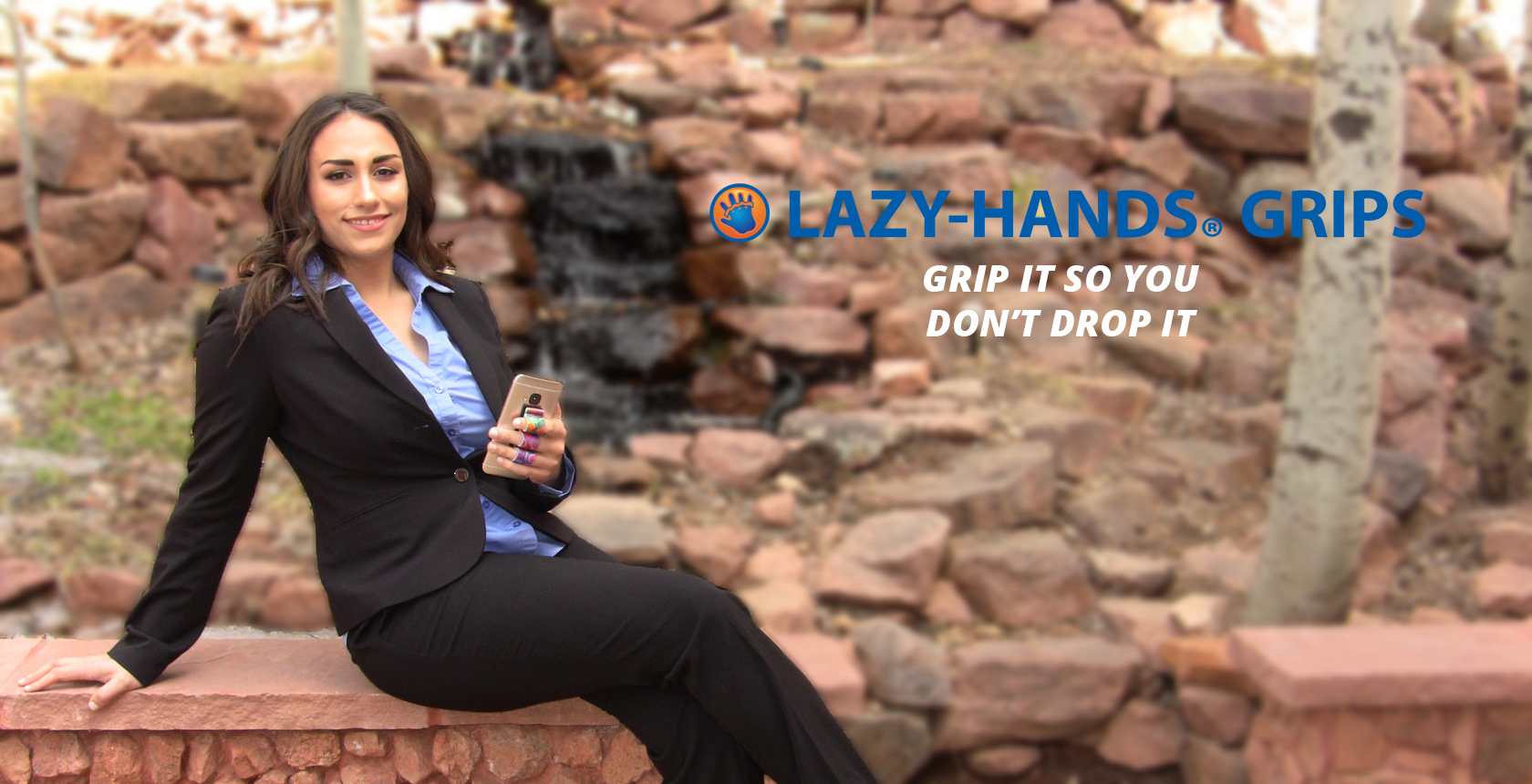 LAZY-HANDS Thumbs-Free Grips For Mobile Devices Phone Grip