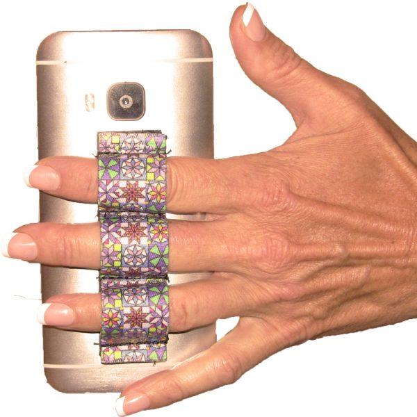 3-Loop Phone Grip - Quilt Design