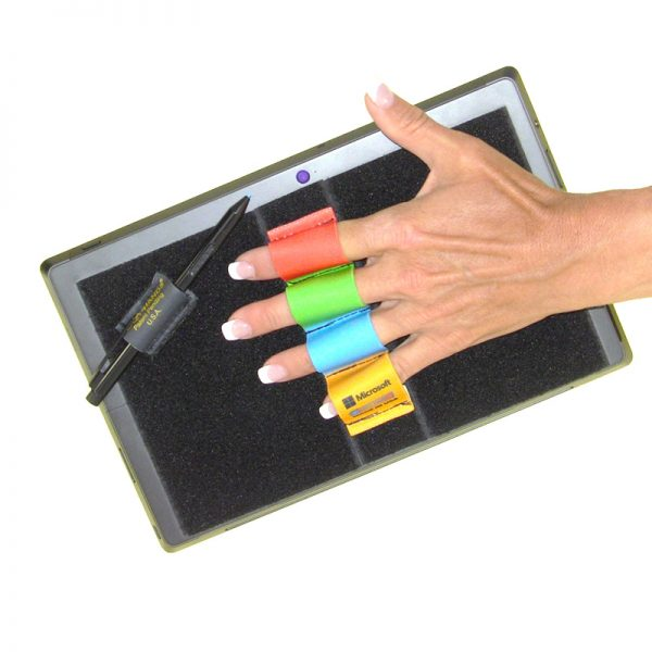 Heavy-Duty 4-Loop Grip (x1 Grip) + Stylus Grip for Tablets & Surface - Microsoft Solids