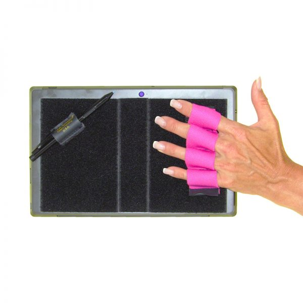 Heavy-Duty 4-Loop Grip (x1 Grip) + Stylus Grip for Tablets & Surface - Pink