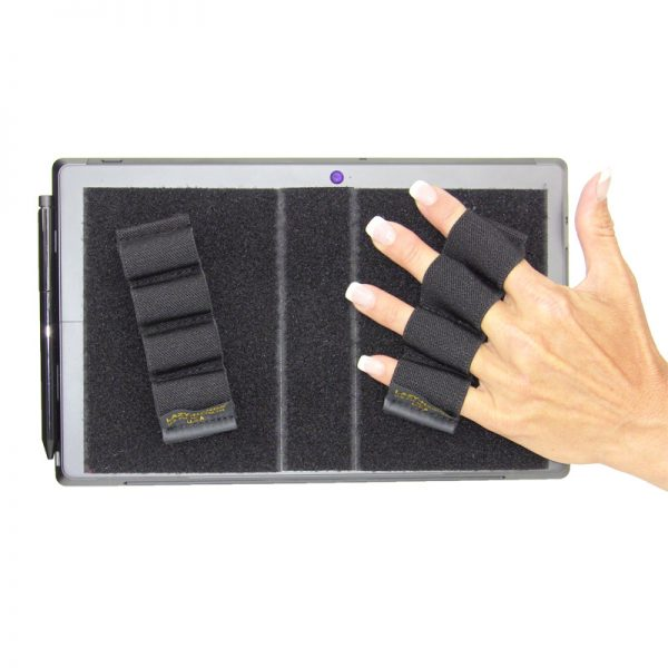 Heavy-Duty 4-Loop Grips (x2 Grips) for Tablets & Surface - Black