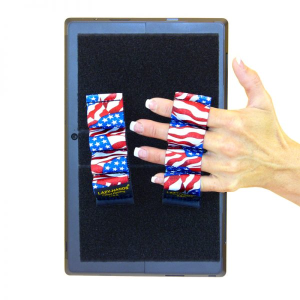 Heavy-Duty 4-Loop Grips (x2 Grips) for Tablets & Surface - Flags
