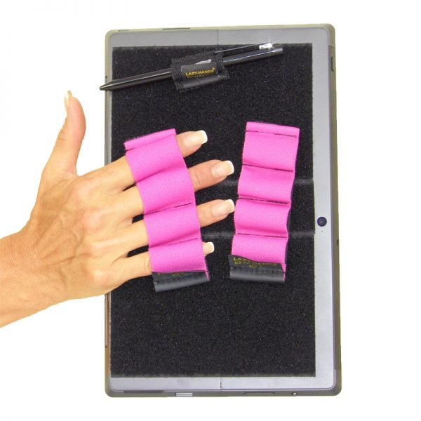 Heavy Duty 4-Loop Grips (x2) for Microsoft Surface with Stylus Grip - Pink, Fits Most