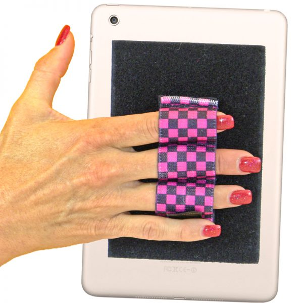 Heavy-Duty 3-Loop Grip (x1 Grip) - Black and Pink Checkers