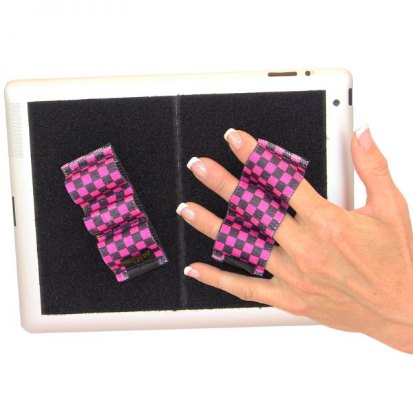 Heavy-Duty 3-Loop Grip (x2 Grips) - Black and Pink Checkers